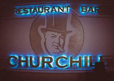 Внутренняя вывеска ресторана «Churchill»