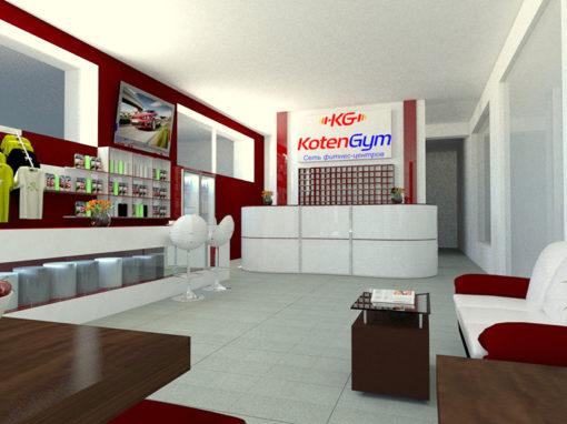 Дизайн интерьера для «KotenGym»