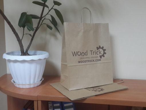 Брендированные эко-пакеты для компании «WoodTrick»