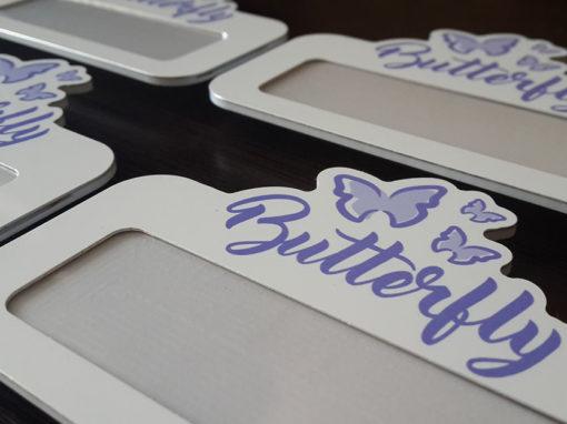 Бейджи для выставки «Butterfly»