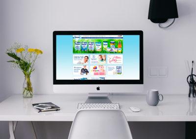 Дизайн сайта для немецкого производителя детского питания «Humana»