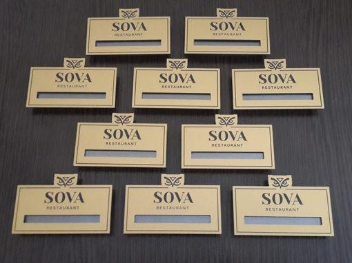 Бейджи для ресторана «Сова»