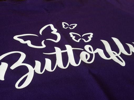 Брендированные футболки для выставки «Butterfly»